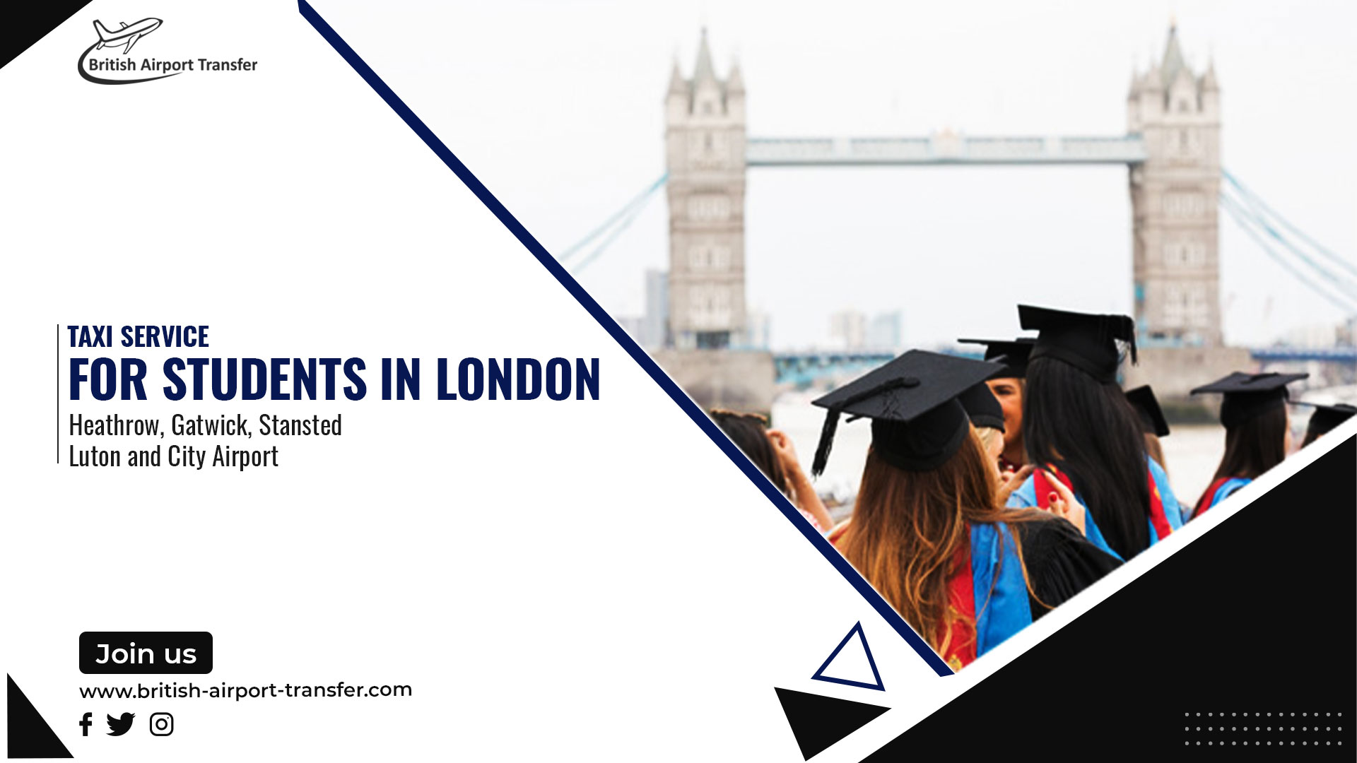 Taxi Service for Students in London, United Kingdom
